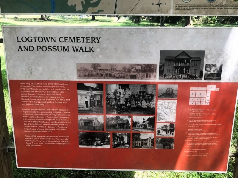 Logtown Cemetery and Possum Walk Marker image. Click for full size.
