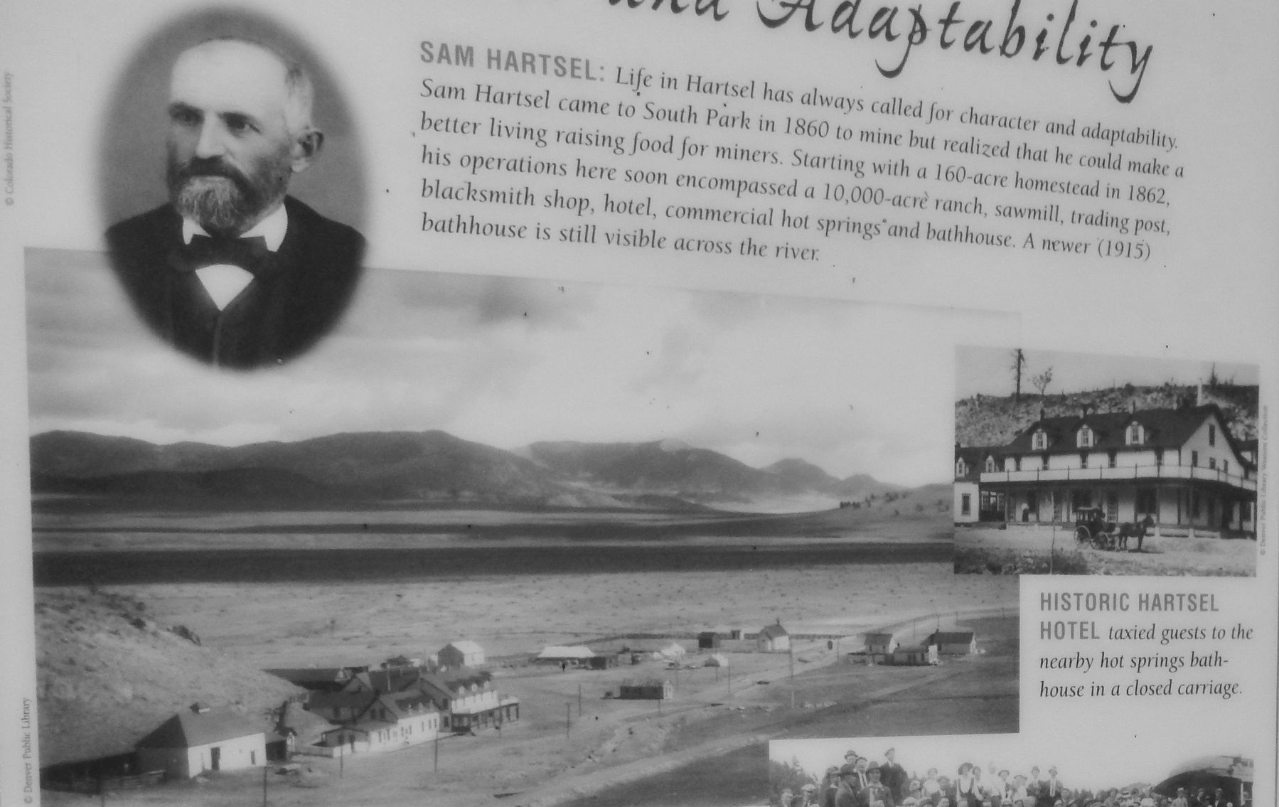 Marker Detail (<i><b>Sam Hartsel and the Hartsel Hotel</b></i>) image. Click for full size.