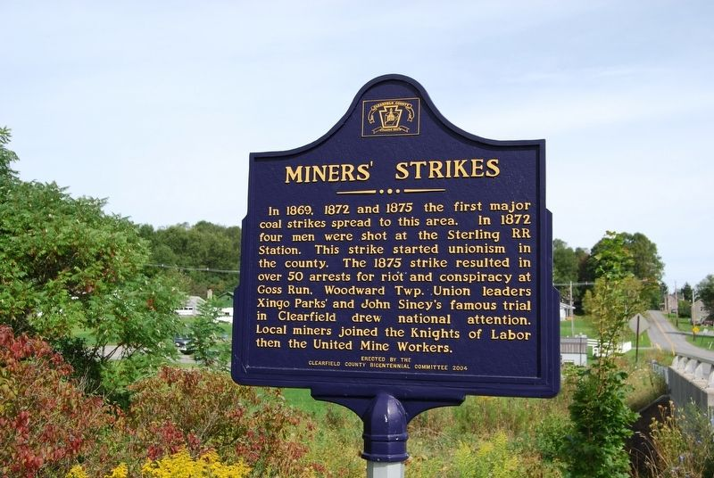 Miners' Strikes Marker image. Click for full size.