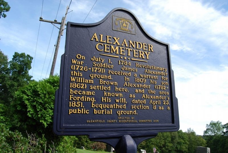 Alexander Cemetery Marker image. Click for full size.