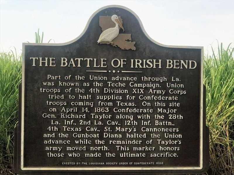 The Battle of Irish Bend Marker image. Click for full size.