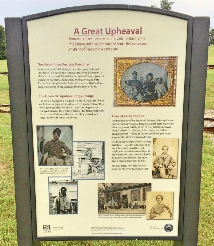 A Great Upheaval Marker image. Click for full size.