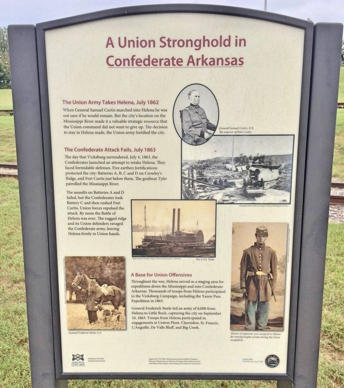 A Union Stronghold in Confederate Arkansas Marker image. Click for full size.