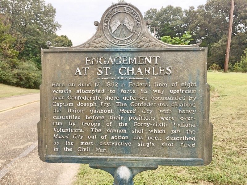 Engagement at St. Charles Marker image. Click for full size.