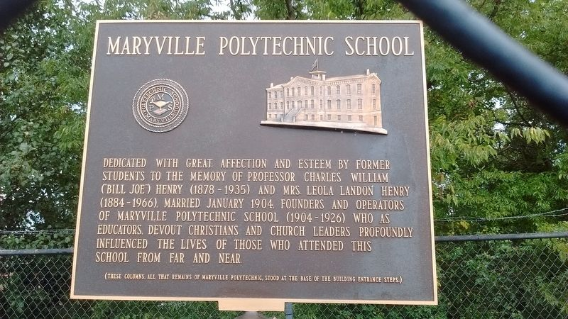 Maryville Polytechnic School Marker image. Click for full size.