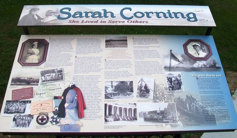 Sarah Corning Marker image. Click for full size.