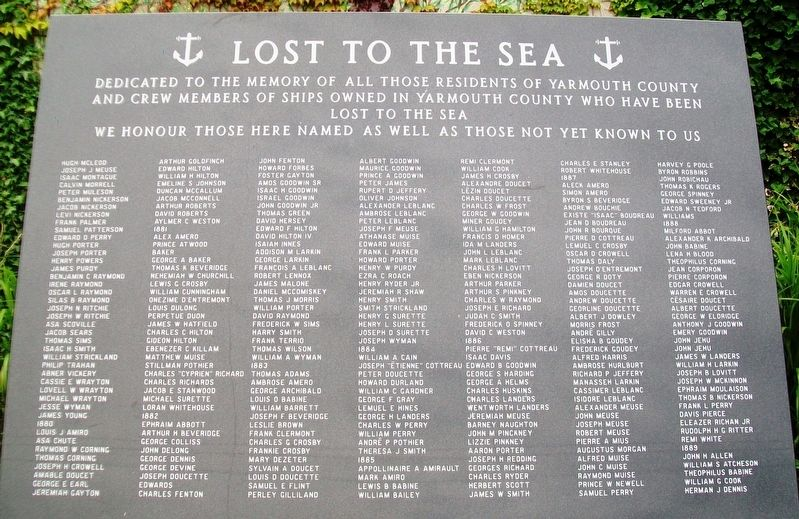 Lost to the Sea Memorial Panel 04 image. Click for full size.