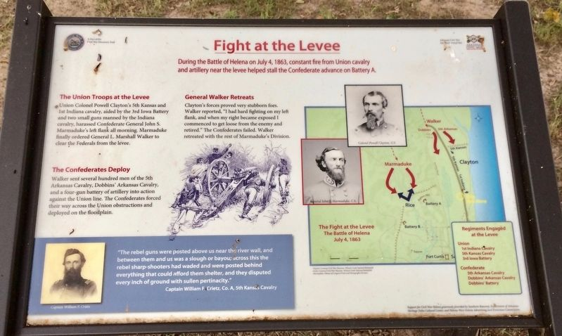 Fight at the Levee Marker image. Click for full size.