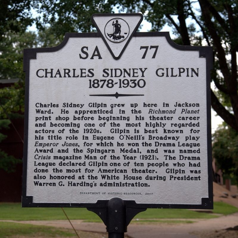 Charles Sidney Gilpin Marker image. Click for full size.