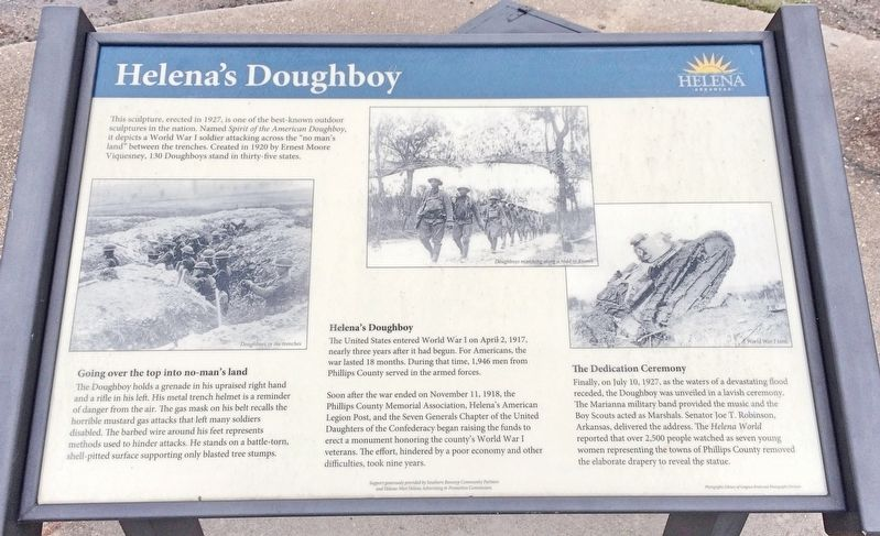 Helena's Doughboy Marker image. Click for full size.