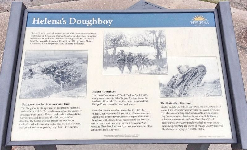 Helena Doughboy marker added to provide info about statue. image. Click for full size.