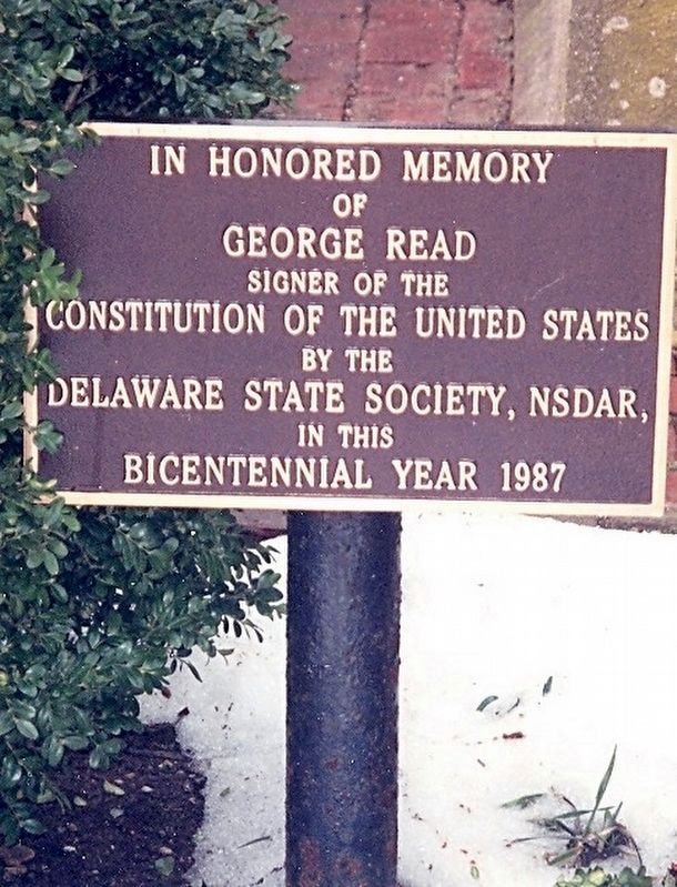 George Read Memorial Marker image. Click for full size.