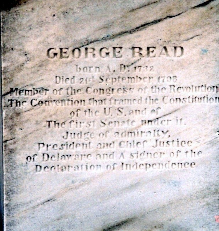 George Read Tombstone image. Click for full size.