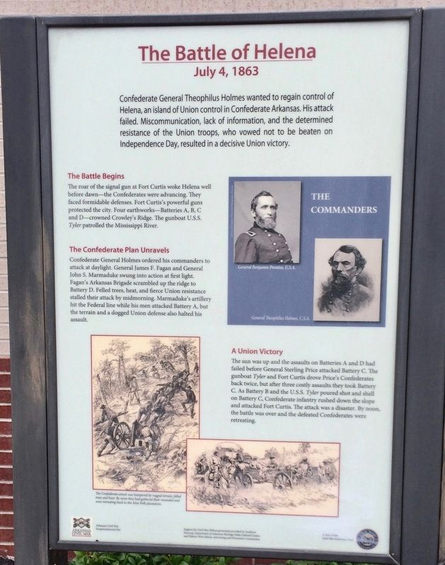 The Battle of Helena Marker image. Click for full size.
