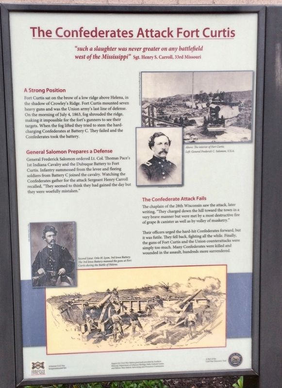 The Confederates Attack Fort Curtis Marker image. Click for full size.