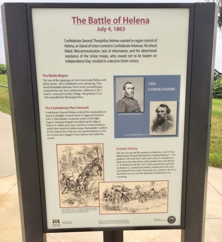 Battle of Helena Marker image. Click for full size.
