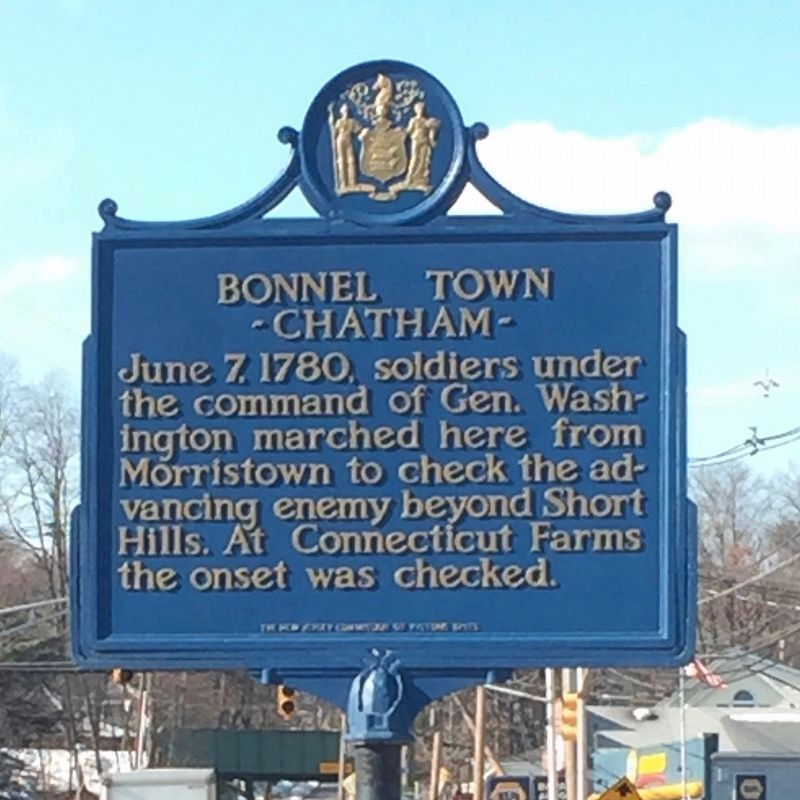Bonnel Town - Chatham Marker image. Click for full size.