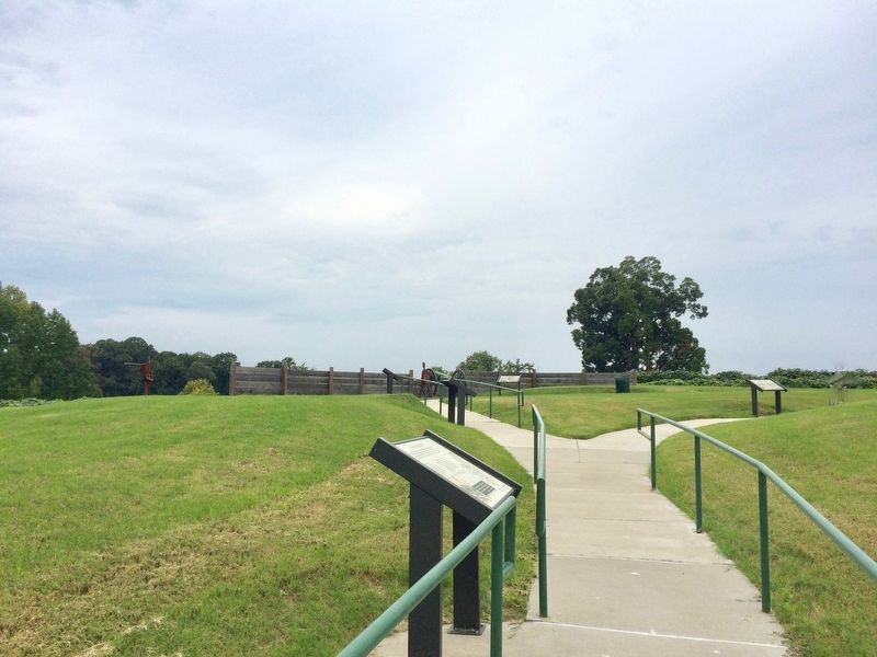 View of Battery C site (Graveyard Hill). image. Click for full size.