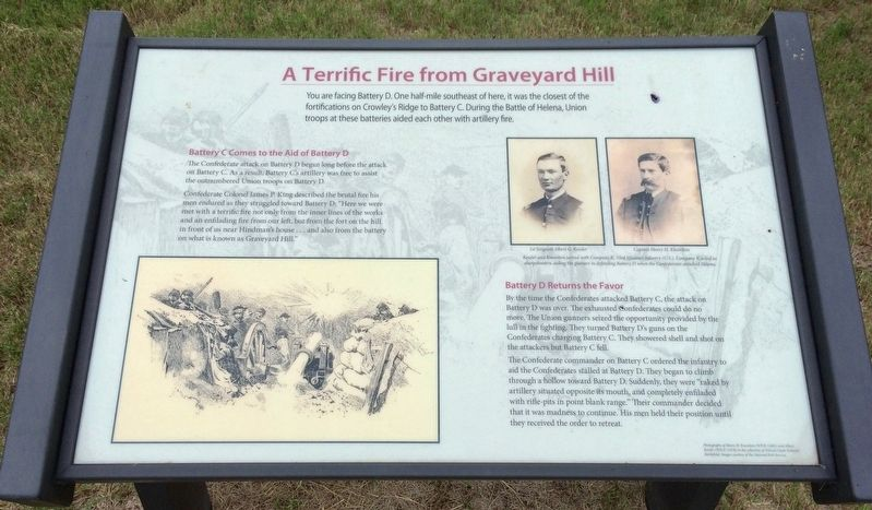 A Terrific Fire From Graveyard Hill Marker image. Click for full size.