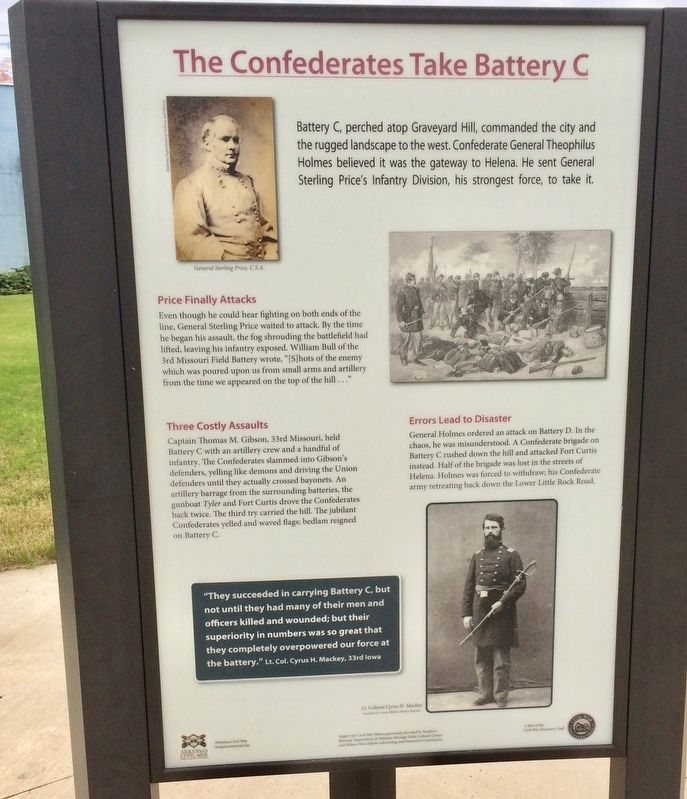 The Confederates Take Battery C Marker image. Click for full size.