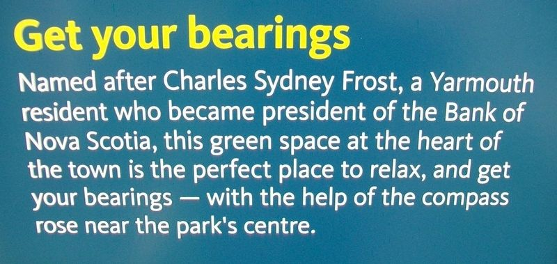 Frost Park Marker Excerpt image. Click for full size.