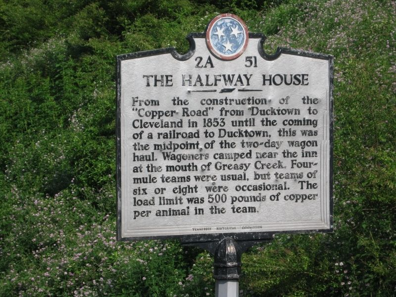 The Halfway House Marker image. Click for full size.