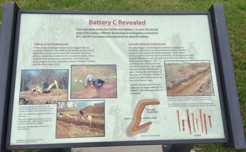 Battery C Revealed Marker image. Click for full size.