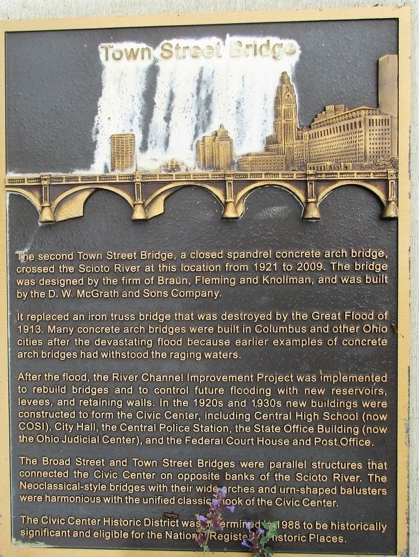 Town Street Bridge Marker image. Click for full size.