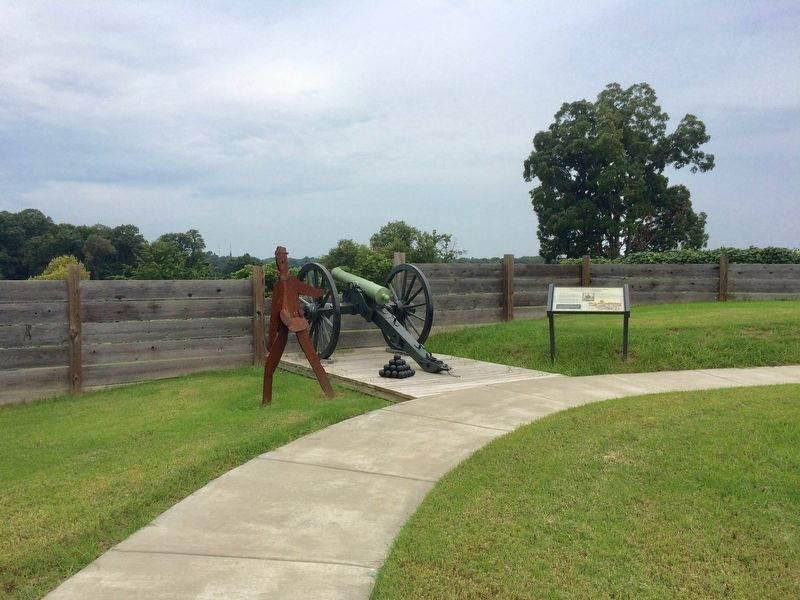 Marker and replica cannon. image. Click for full size.