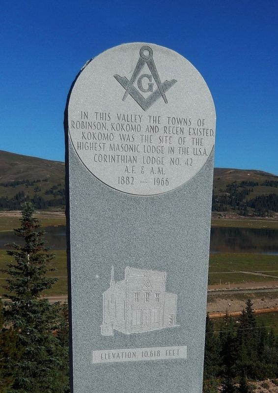 Kokomo Masonic Lodge Marker image. Click for full size.