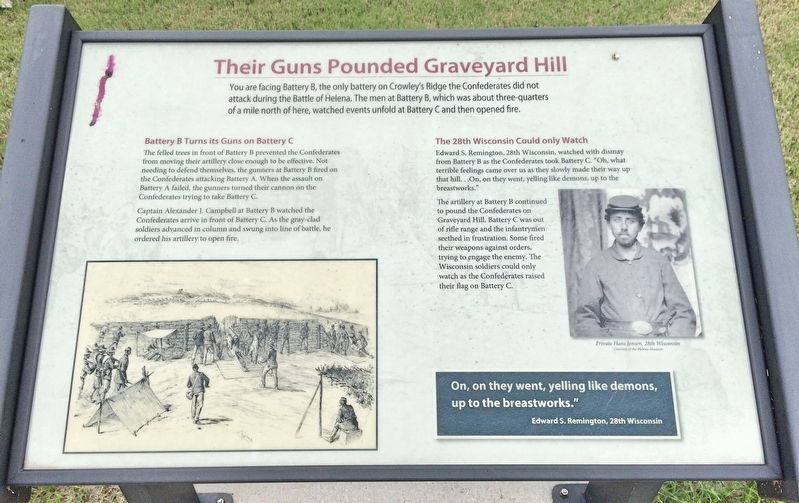 Their Guns Pounded Graveyard Hill Marker image. Click for full size.