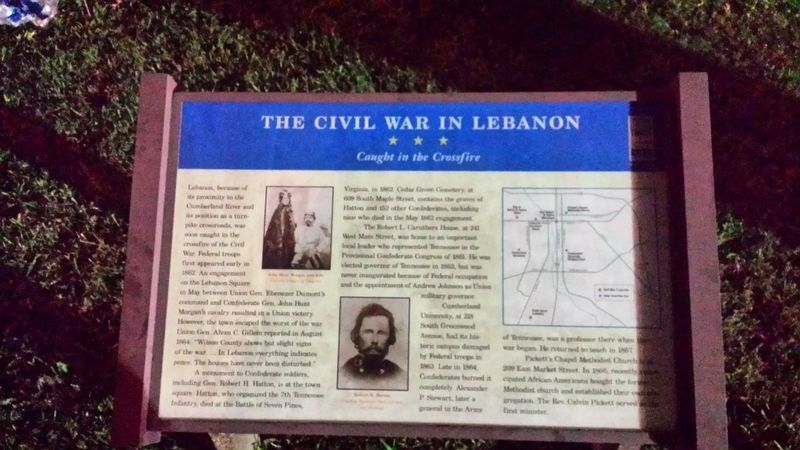 The Civil War In Lebanon Marker image. Click for full size.