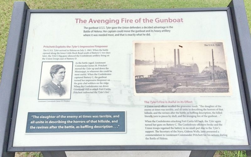 The Avenging Fire of the Gunboat Marker image. Click for full size.