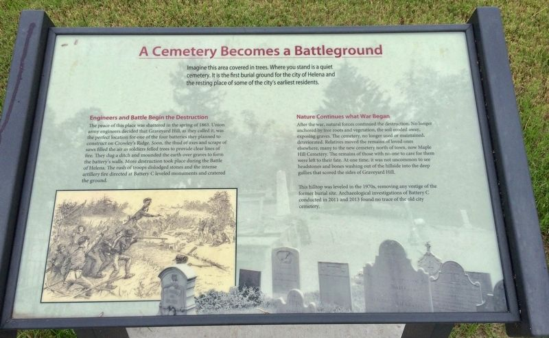 A Cemetery Becomes a Battleground Marker image. Click for full size.