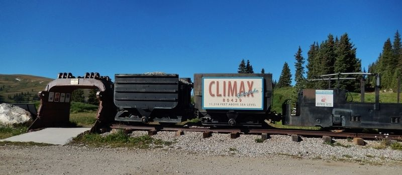 Climax Historical Marker Park Entrance image. Click for full size.