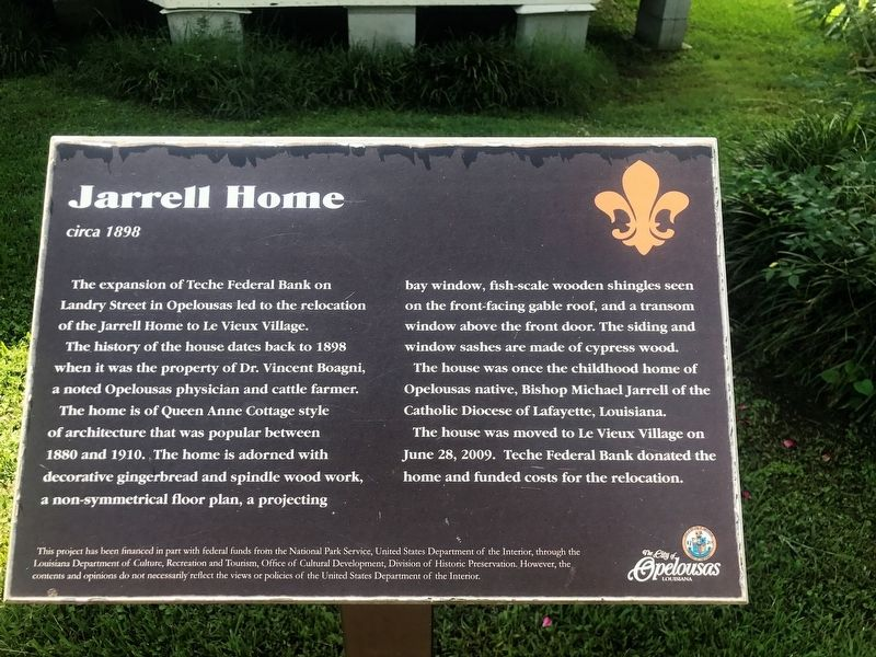 Jarrell Home Marker image. Click for full size.