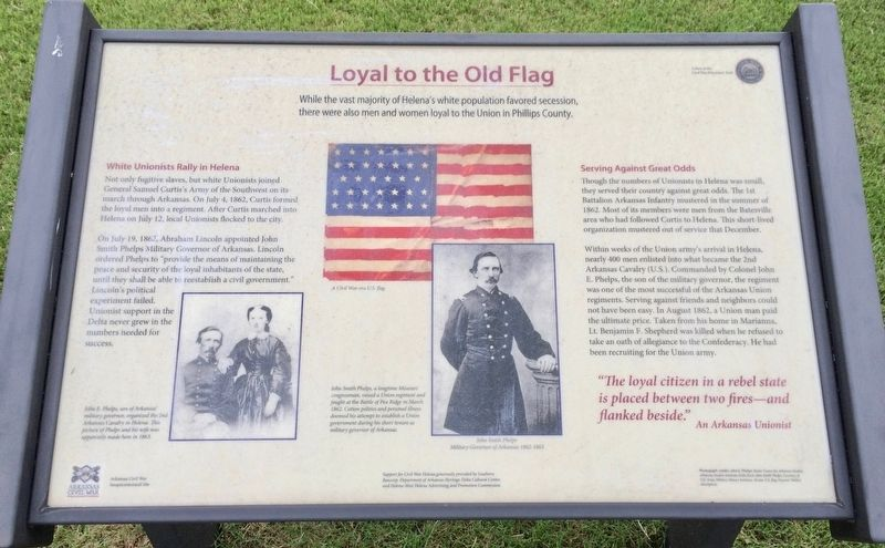Loyal to the Old Flag Marker image. Click for full size.