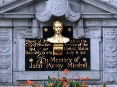 In Memory of John Purroy Mitchel Marker image. Click for full size.