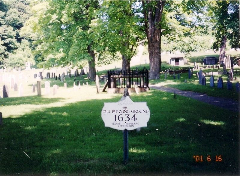 Sign at the entrance to the cemetery image. Click for full size.