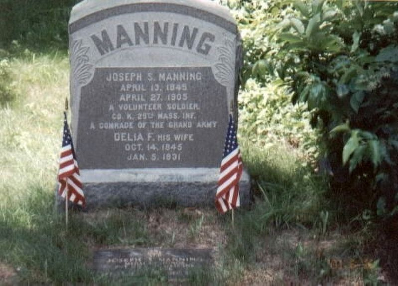 Joseph S. Manning-Civil War Congressional Medal of Honor Recipient-grave marker image. Click for full size.