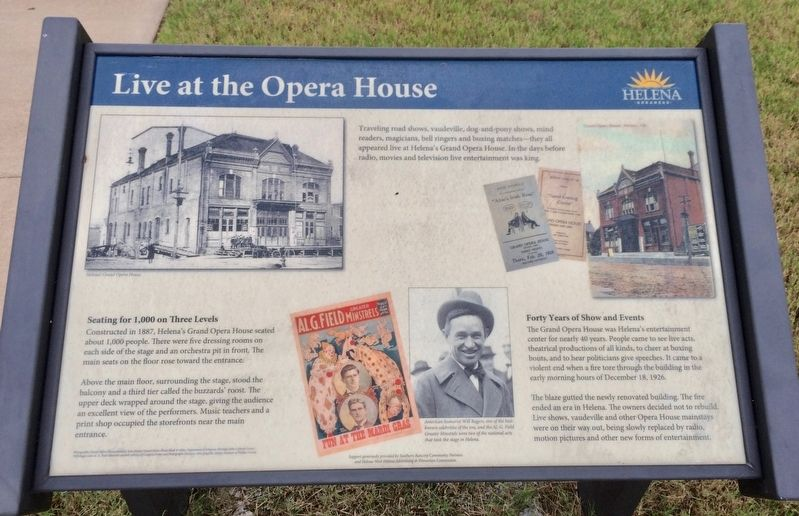 Live at the Opera House Marker image. Click for full size.