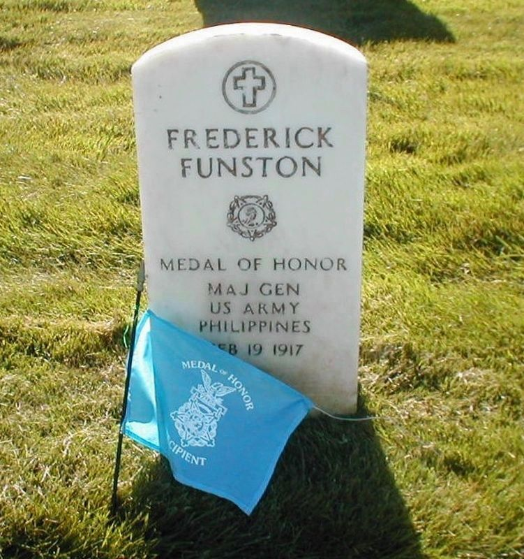 Frederick Funston Philippine Insurrection Congressional Medal of Honor grave marker image. Click for full size.