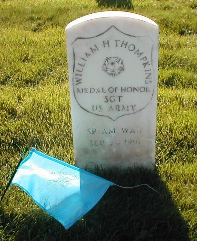 William H Tompkins-Spanish-American Congressional Medal of Honor grave Marker image. Click for full size.