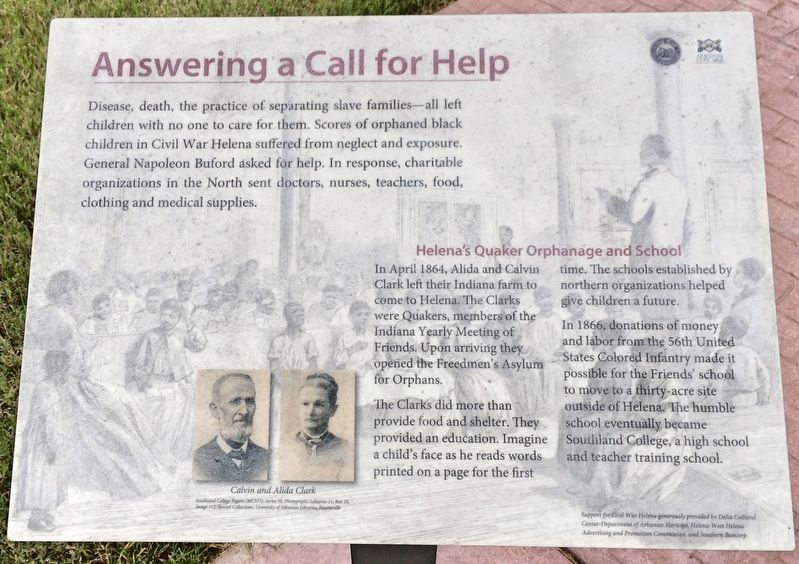 Answering a Call for Help Marker image. Click for full size.