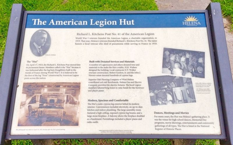 The American Legion Hut Marker image. Click for full size.