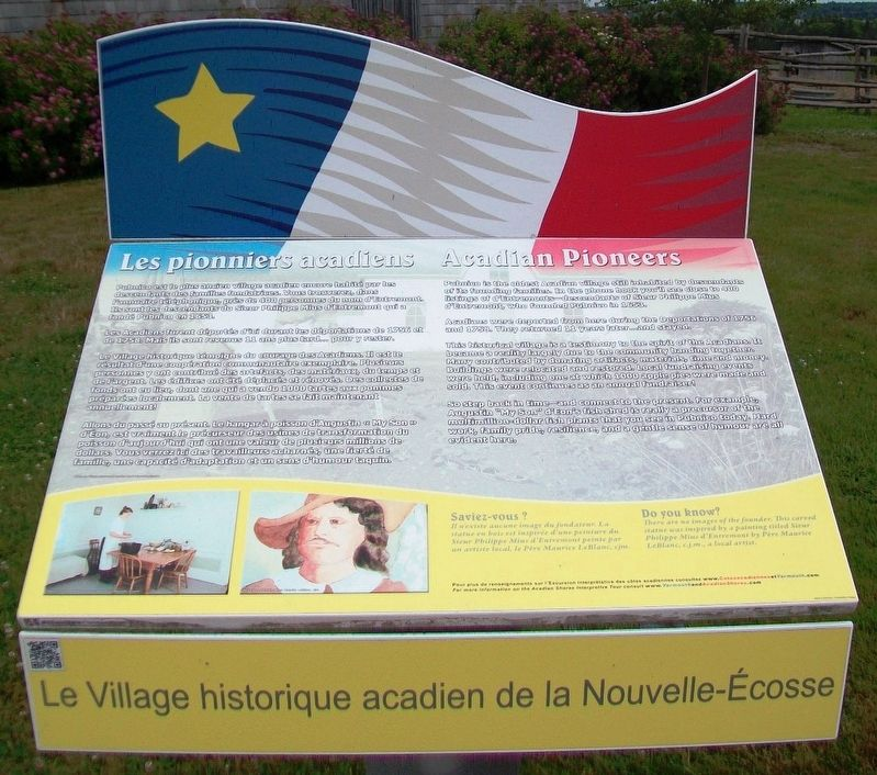 Les pionniers acadiens / Acadian Pioneers Marker image. Click for full size.