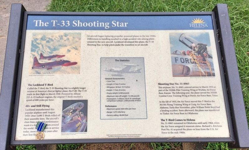 The T-33 Shooting Star Marker image. Click for full size.