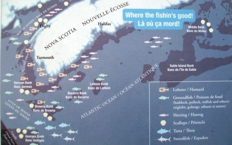 Southern Nova Scotia Fishing Grounds on Dennis Point Marker image. Click for full size.