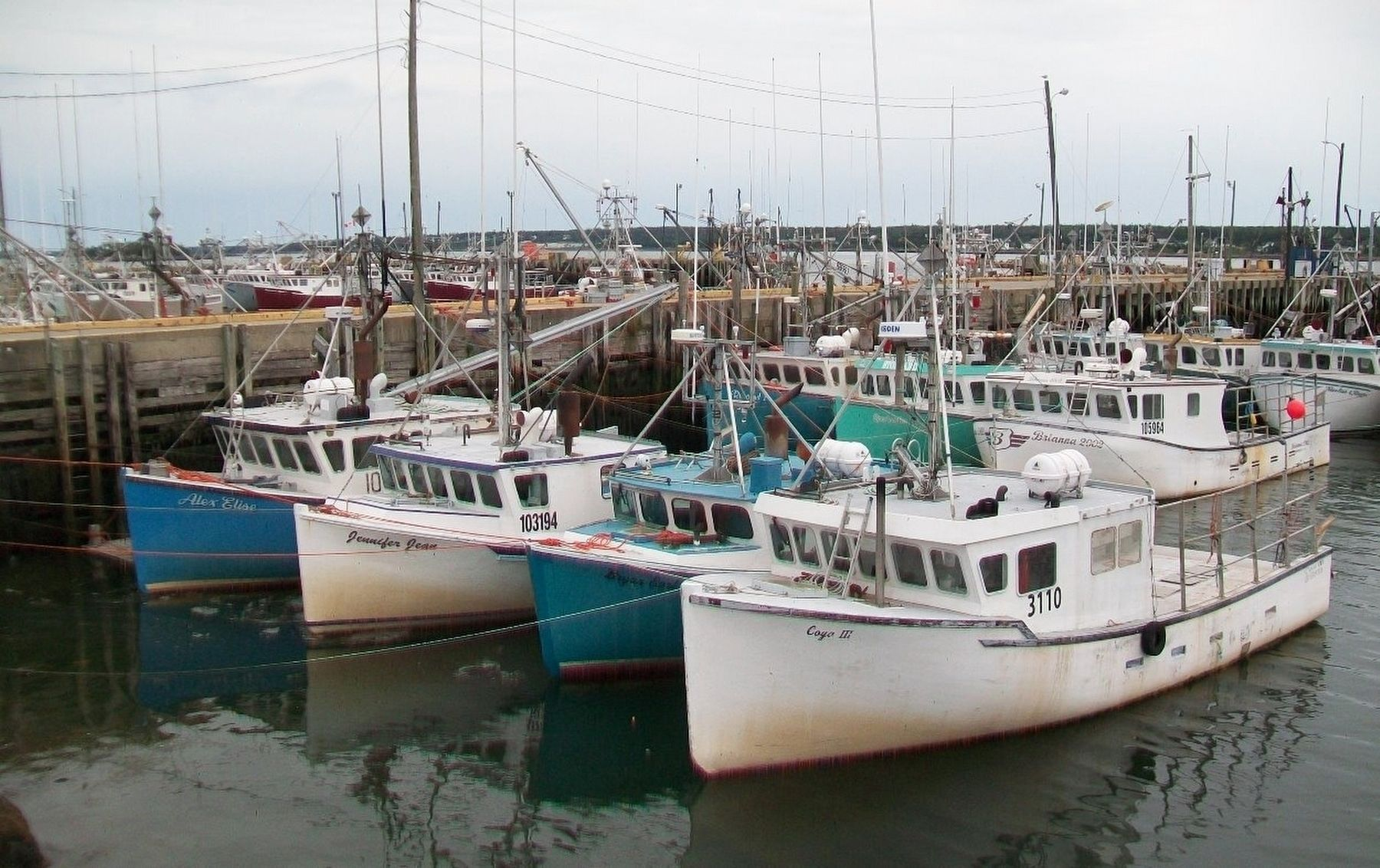 Small Portion of the Dennis Point Fishing Fleet image. Click for full size.