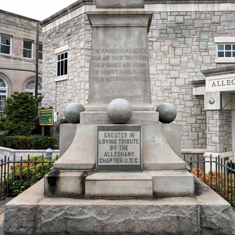 Alleghany County Confederate Soldiers Monument image. Click for full size.